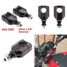 "Pair 11/8"" 28mm Universal CNC Motorcycle Handle Bar Mounts Clamp Riser Aluminium"