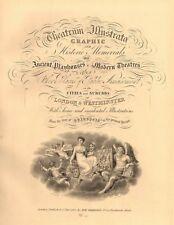 THEATRUM ILLUSTRATA. Decorative title page. Robert Wilkinson. London 1834
