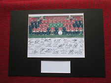 MANCHESTER UNITED 2011/12- FULL TEAM SIGNED A3 MOUNTED PHOTO DISPLAY - REPRINT