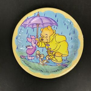 Pooh 8 Party Plates Smallish Friends Are Sweetest Piglet 6.75 Inch Diameter NEW