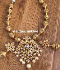 Polki Mala And Earrings Beautiful Rajistani Style Jewellery
