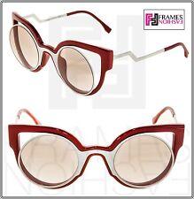 1215c57793de FENDI PARADEYES FF0137S White Red Mirrored Cat Eye Sunglasses Optyl 0137