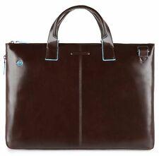 PIQUADRO Slim Computer Briefcase Henkeltasche Tasche Mogano Braun