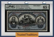 "TT PK 65s 1918-19 GREECE 25 DRACHMAI ""G. STAVROS"" ""SPECIMEN"" PMG 65 EPQ GEM UNC!"
