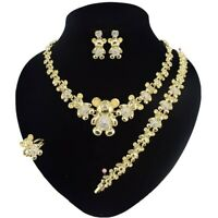 18k Layered Real gold filled Xo Set teddy bear #33