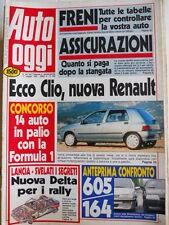 Auto OGGI n°180 1990 Test Confronto Alfa Romeo 164 vs Peugeot 605  [Q200]