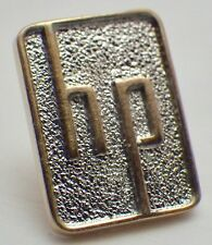 "Vintage 10K Yellow & White Gold Hewlett Packard ""HP"" Employee Lapel Pin"