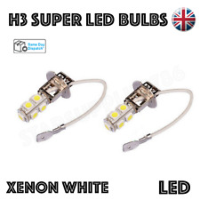 2x CANBUS H3 LED BULBS WHITE HEADLIGHT FOG LIGHTS DRIVING CORNERING BULBS