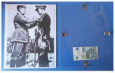Benito Mussolini appunta medaglia ufficiale duce fascismo quadro cornice vetro
