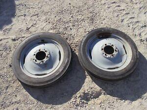 Ford 8N tractor front rims & 4 x 19 Super Hi Rib 4Ply tires tire rim