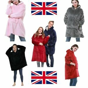 Adult/Kids Blanket Sweatshirt Plush Soft Warm Oversized Blanket Hoodie Winter UK