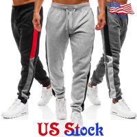 Men Sports Pants Long Tracksuit Trousers Fitness Workout Joggers Gym Sweatpants