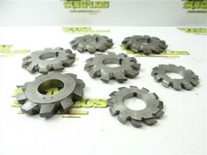LOT OF 7 HSS INVOLUTE GEAR CUTTERS NO.1 & NO.2 ILLINOIS BROWN & SHARPE