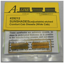 A-Line 29212 - Adjustable Sunshades for Comfort Cab Diesels - HO Scale
