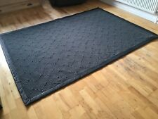 New Contemporary Designer Rug - 100% New Zealand carpet wool & leather edged