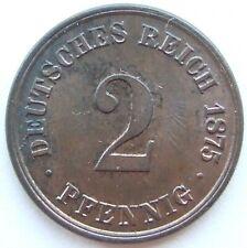 Top! 2 Pfennig 1875 A IN Uncirculated