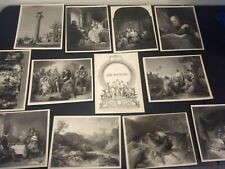 11 Vintage Engravings 'Diff. Themes' from 1851