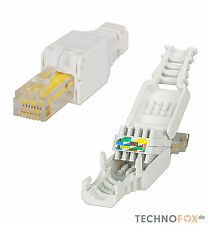 1 Stück RJ45 Cat7 Cat6 Netzwerkstecker Werkzeuglos toolless Network connector HQ
