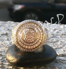Men's Bling 8ct Diamond Pinky RING 14k Gold Finish ICY HIP-HOP  Pinkie Size7to12