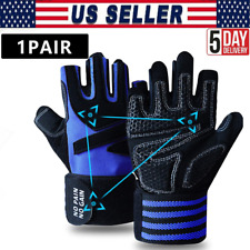 Weight Lifting Gloves With Wrap Support Strap Gym Training Fitness Glove Workout