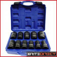 "1"" Inch 10 pcs Socket Set 17-41 DRIVE DEEP IMPACT HGV Long Reach Impact Sockets"