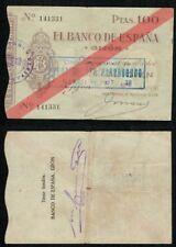 Gijón 100 Pesetas 1936. Caja Central de Depósitos. Nº 141331.BONITO.