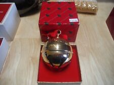 Reed & Barton Gold Holly Ball Christmas Goldplate Ornament 1992 with box