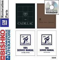 1984 Cadillac Fleetwood Seville Shop Service Repair Manual CD Engine Drivetrain