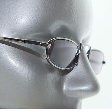 Smoke Tint Reading Glasses Xtreme Narrow Lens Boho Gray Metal Frame +2.00 Power