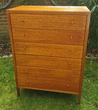 More details for beautiful 1950s vintage  mid century heals of london chest of drawers