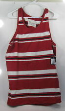 new Galaxy By Harvic Red/White/Black Strap Tank Top Size Xl *
