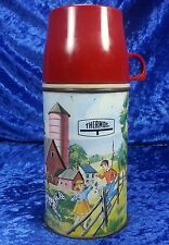 VINTAGE 1962 PETS AND PALS METAL LUNCHBOX THERMOS. Nice and Clean