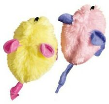 Kong Kitten Mice 2 Pack - Soft and Cuddly for Baby Cats Pastel Colors