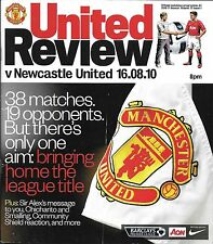 Football Programme>MAN UTD v NEWCASTLE UNITED Aug 2010