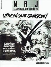 Publicité Advertising 057  1985  radio NRJ  Véronique Sanson concert à l'Olympia