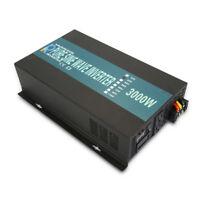 3000W Pure Sine Wave Inverter 12/24V DC to 120/220/240V AC Solar Power Inverter