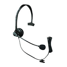 Panasonic KX-TCA60 Over The Head Headset With Noise-Canceling Microphone New