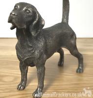 Cold Cast Bronze Beagle quality sculpture ornament figurine statue gift boxed