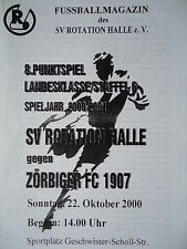 Programm 2000/01 SV Rotation Halle - Zörbiger FC