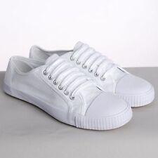 Calzado de hombre zapatillas de lona de color principal blanco de lona