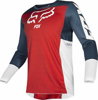 Fox Racing Mens 180 Przm Navy Blue/Red/White Dirt Bike Jersey Motocross ATV MX