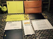 1992 FERRARI F40 OWNERS MANUAL +GENUINE LEATHER CASE POUCH + SERVICE BK ((RARE))
