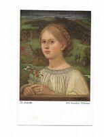 """Künstlerkarte von M. Schiestl, """"Ein deutsches Mädchen"""", Wiechmann Bildkarte"""