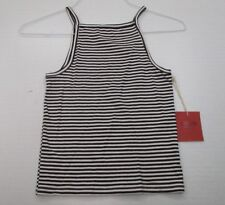 new MOSSIMO #T4252 Women's Size XS Casual Rayon Black/White Stripe Tank Top