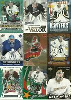 HUGE DUCKS GOALIE JEAN-SEBASTIEN GIGUERE 21 DIFFERENT INSERT PARALLEL CARDS LOT
