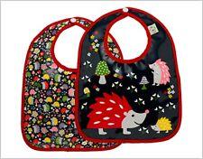 NEW Sugar booger soft baby bib set 2 pack Hedgehogs wash & wear easy close snaps