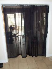 """25/6 SALE GORGEOUS PAIR OF BLACK 100% POLYESTER NET CURTAINS 56"""" X 72"""""""