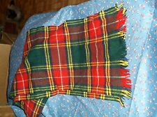 Vintage Ben Nevis 100% Wool Scarf Made Great Britain Multii Color Plaid