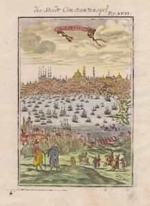 1685 Mallet Map of Constantinople/Istanbul