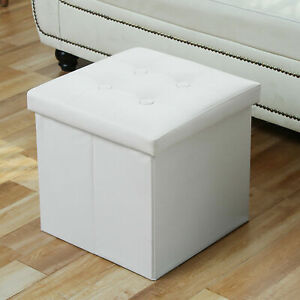 Sorbus - Storage Ottoman Cube, Collapsible/Folding with Lid (2 Pack)